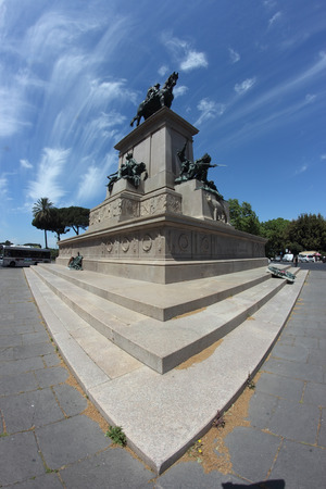 garibaldi: ROME, ITALY - MAY 8, 2015: Garibaldi monument on the janiculum hill Editorial
