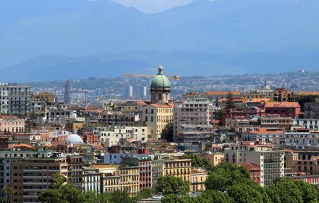 angeli: cityscape in Naples with the Santa Maria degli Angeli dome