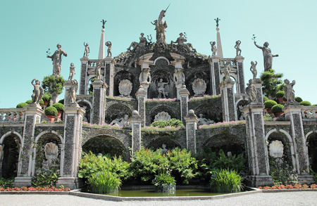 bella: beautiful gardens of Isola Bella in Maggiore lake, Italy Stock Photo