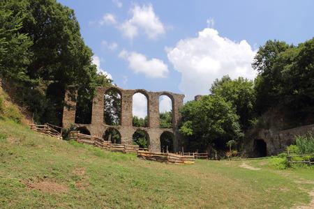 tuscia: ancient Roman aqueduct in Monterano, Viterbo, Italy