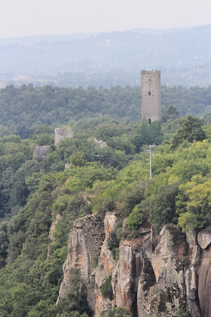 tuscia: Chia ancient medieval Tower, Viterbo, Italy Stock Photo