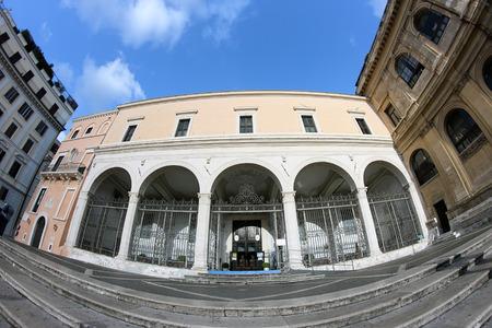 vincoli: exterior facade of Saint Peter in Vincoli church,  Rome, Italy Stock Photo
