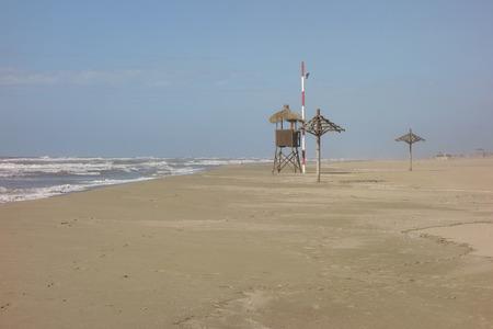 baywatch: baywatch tower in Ostia beach, Italy