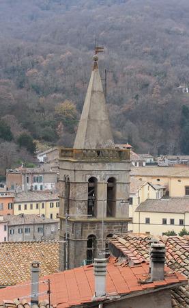 viterbo: Soriano nel Cimino ancient town Viterbo, Lazio, central Italy