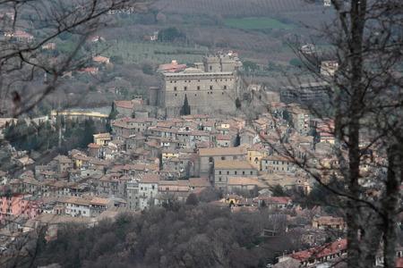 tuscia: Soriano nel Cimino ancient town overview Viterbo, Lazio, central Italy