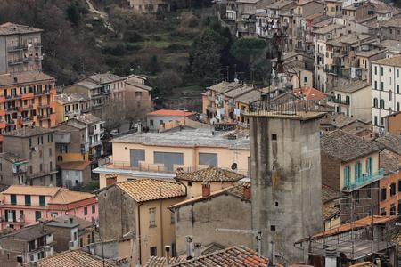 lazio: Soriano nel Cimino ancient town overview Viterbo, Lazio, central Italy