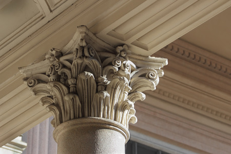 neoclassical: neo-classical column capital relief detail, Novara, Italy