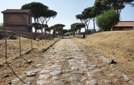 tumbas: América tumbas pública Park, camino romano en Roma, Italia Foto de archivo