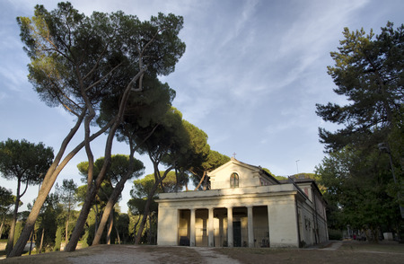 nephew: ROME, ITALY - AUGUST 2, 2016: Casina di Raffaello ancient  famous villa constructed at the beginning of the 17th century for Cardinal Scipione Caffarelli Borghese, nephew of Pope Paul V, which is surrounded by one of the largest and most beautiful Roman p