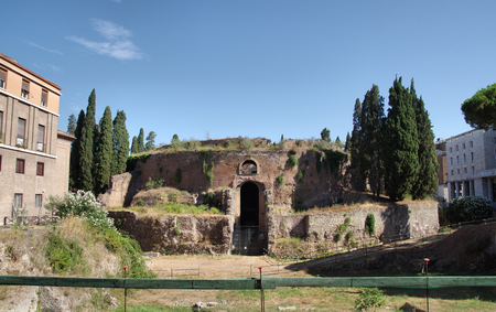 augustus: The Mausoleum of Augustus, Tomb built by Roman Emperor Augustus in 28 BC on The Campus Martius. Rome. Itay Stock Photo