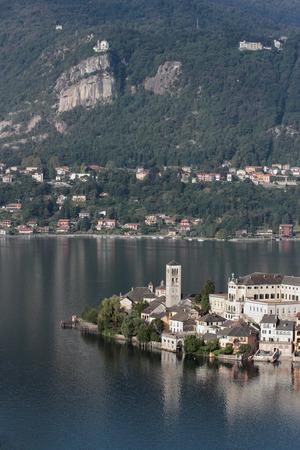 orta: Orta Lake, San Giulio and Madonna del Sasso, Italy