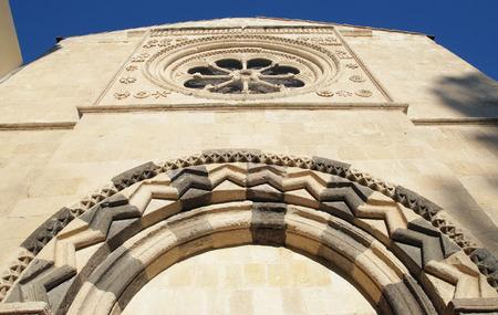 Church of the Annunziata Facade in Tarquinia. Lazio. Italy.
