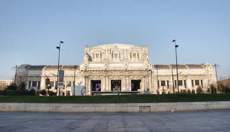 MILAN, ITALY - JANUARY 26, 2017: the railway station Milano Centrale considered to be one of the most beautiful stations in Europe