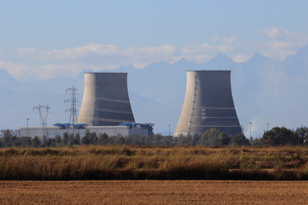dismissed: Nuclear power plant in Trino Vercellese, Italy, Europe