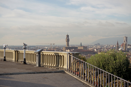 Piazzale Michelangelo famous square with a panoramic view of Florence, Italy Stock Photo