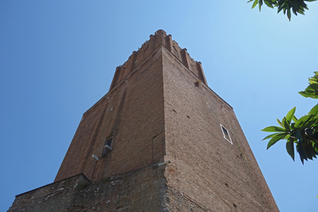Torre delle milizie ancient medieval, tower in Rome, Italy