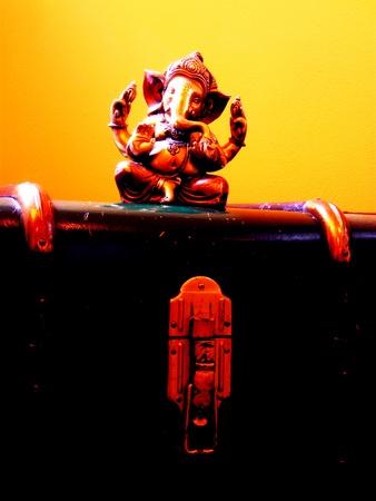 worshipping: ganesha Stock Photo