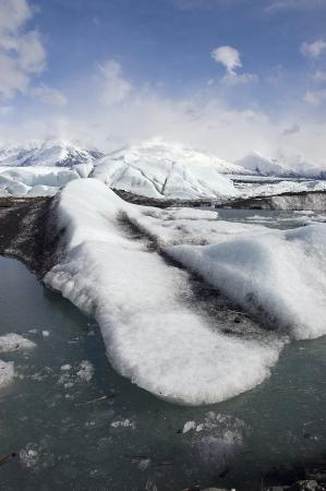 Ice Flow bij Gletsjer Alaska Stockfoto