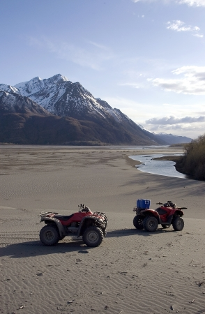 ATVs at Alaskan Glacier Wash
