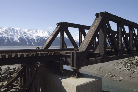 Railroad Bridge in Alaska