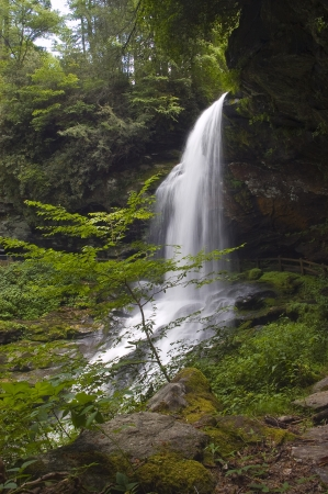 Dry Falls, ook wel bekend als Upper Cullasaja Falls, is een 65-meter hoge waterval gelegen in het Nantahala National Forest, ten noordwesten van Highlands, North Carolina