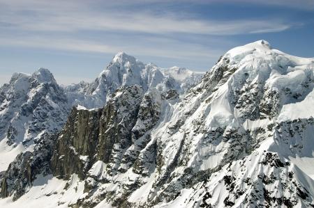 Snow capped peaks near Mt  McKinley, Alaska Stock Photo - 17115536