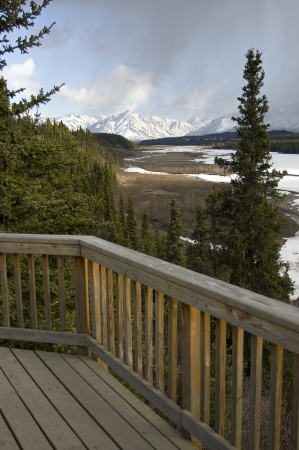 Overlook deck in Denali National Park