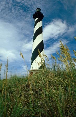 Cape Hatteras Lighthouse met zee haver