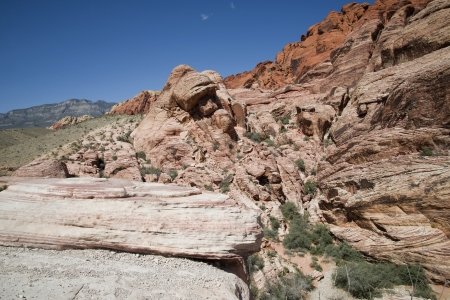 Rock formations in Red Rock Canyon, NV