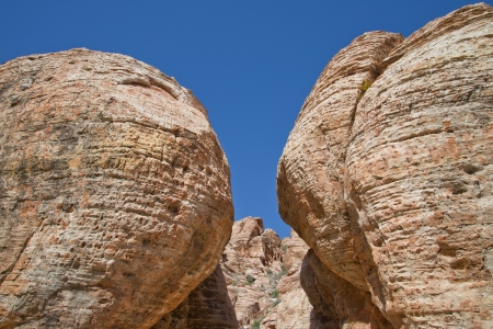 Rock Formations in Red Rock Canyon, Nevada Stock Photo
