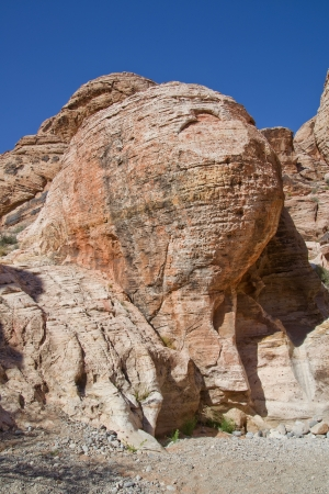 angstaanjagende rotsformaties in Red Rock Canyon, Nevada Stockfoto