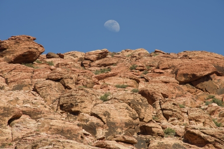 Moonrise at Red Rock Canyon, Nevada