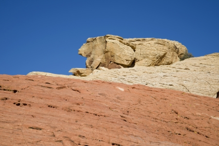A rabbit shaped rock formation at Red Rock Canyon, Nevada Stock Photo
