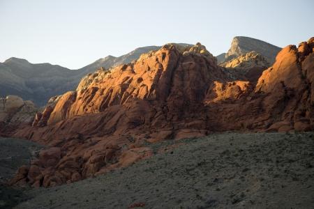 Rotsformaties in Red Rock Canyon, Nevada Stockfoto
