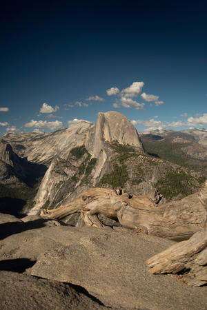 Half Dome in Yosemite National Park from Glacier Point Stock Photo