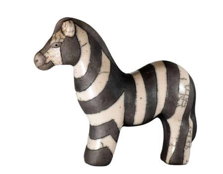 Clay Zebra Stock Photo