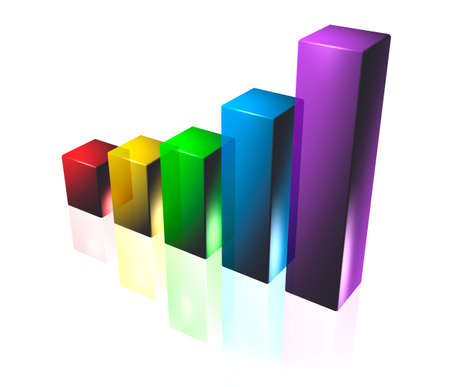 3D Business Graph Stock Photo - 7589816