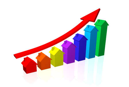 House Prices Going Up Stock Photo - 8179345