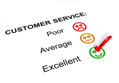 Customer Service Feedback Form Showing an Excellent Rating Stock Photo - 8220457