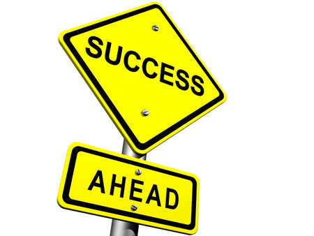 Road Sign Indicating Success Ahead Stock Photo - 8294121