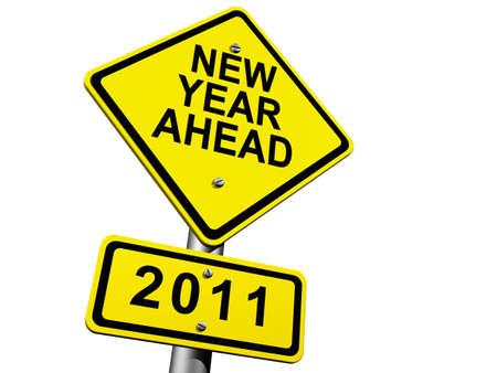 New Year Ahead - 2011 Stock Photo