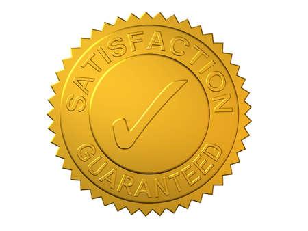 guaranteed: Gold Seal Embossed with Satisfaction Guaranteed Stock Photo