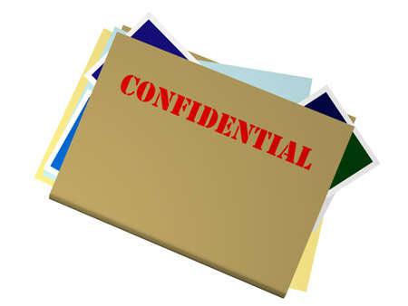 Bulging Folder Marked Confidential Stock Photo