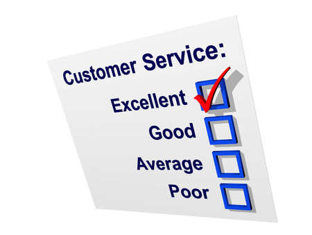 Customer satisfaction survey with excellent rating Stock Photo