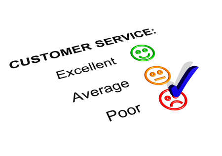 fail: Customer Service Feedback Form Showing a Poor Rating Stock Photo