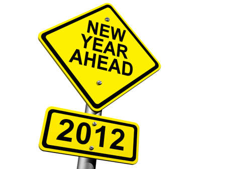 Road Sign Indicating New Year 2012 Ahead