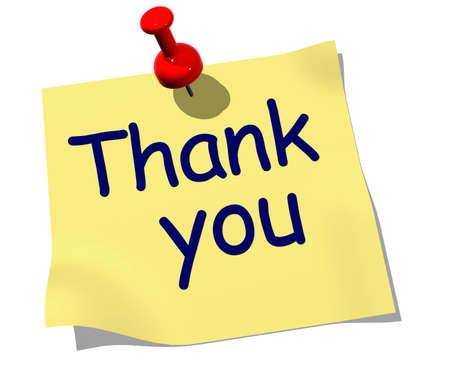 dank u: Let op met de woorden: Dank U vastgemaakt aan boord Stockfoto