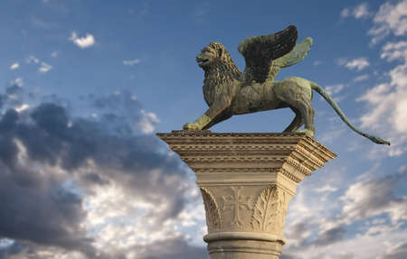 The winged lion of St Mark in Venice, Italy