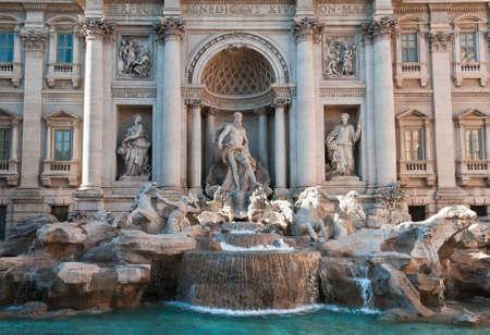 fontana: Trevi Fountain in Rome, Italy