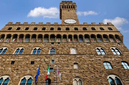 Palazzo Vecchio on the Piazza della Signoria in Florence, Italy